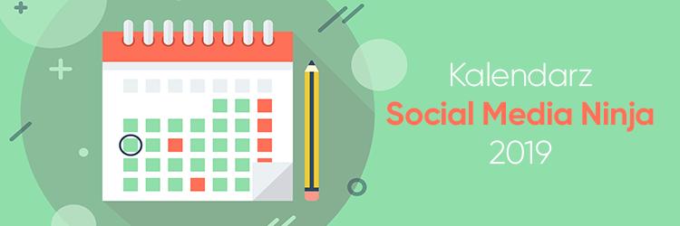 Kalendarz Social Media Ninja 2019