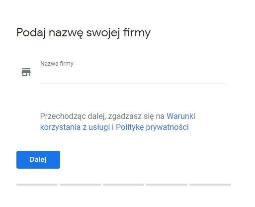 zakładamy wizytówkę w google moja firma