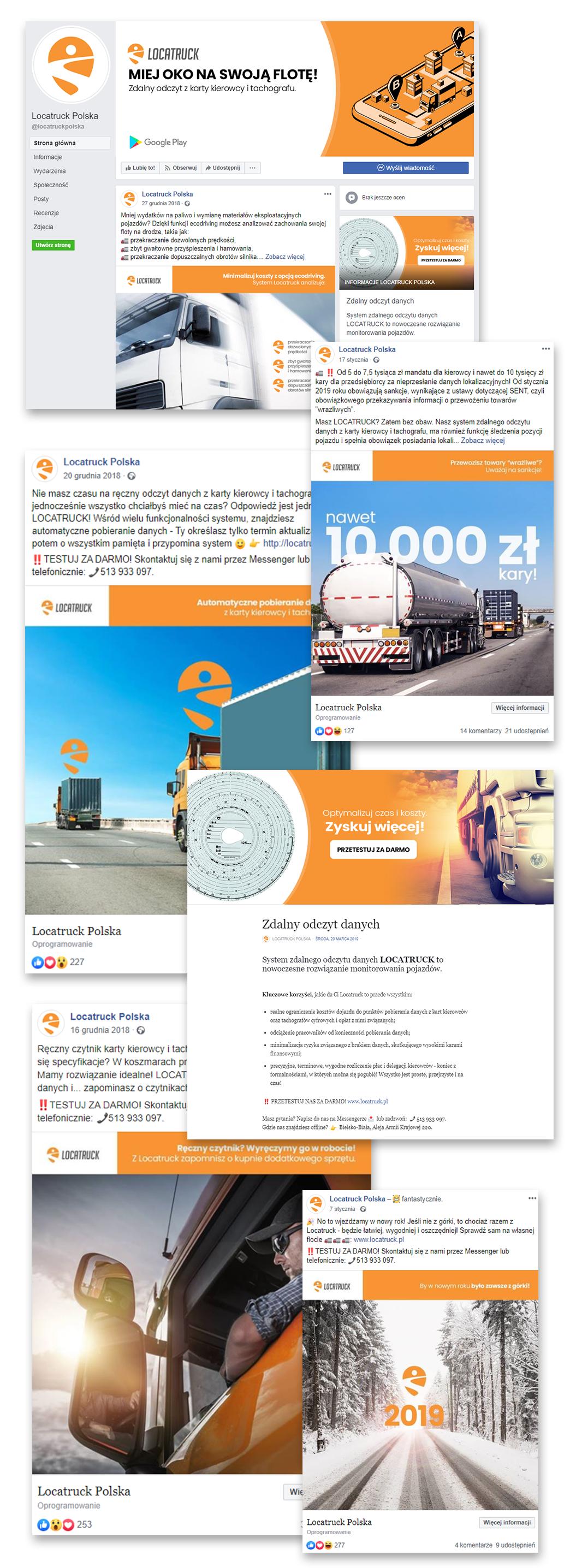 Usługi dla transportu na Facebooku