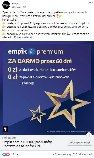 Empik Premium za darmo