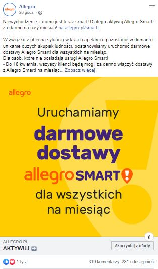 Allegro Smart za darmo