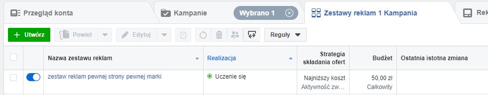 Faza uczenia się na Facebooku