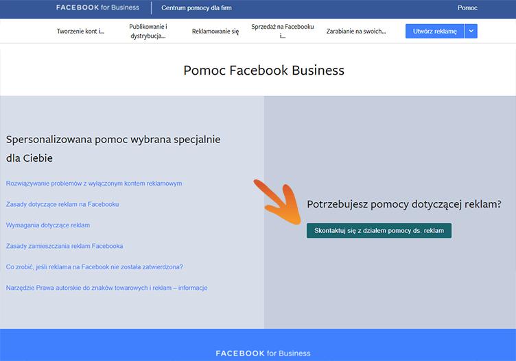 Pomoc FB Business