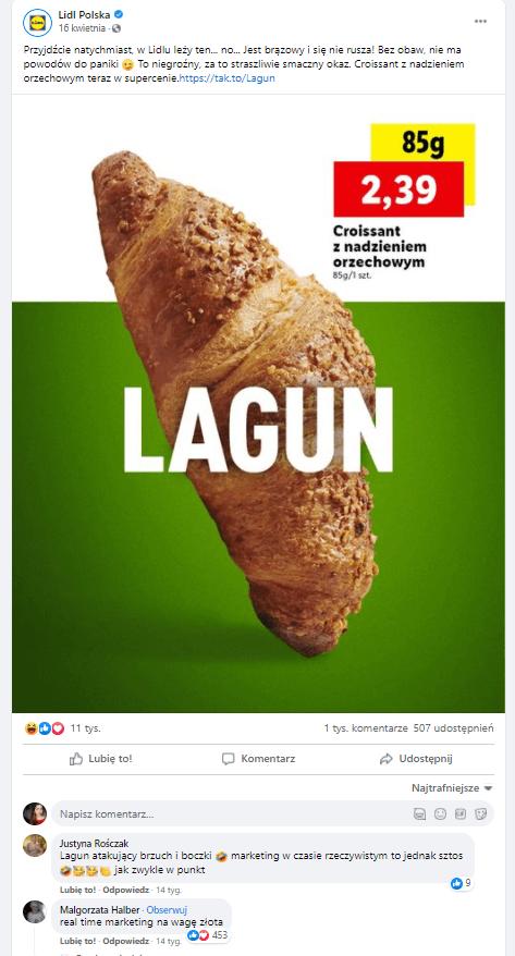 real time marketing w wykonaniu Lidl