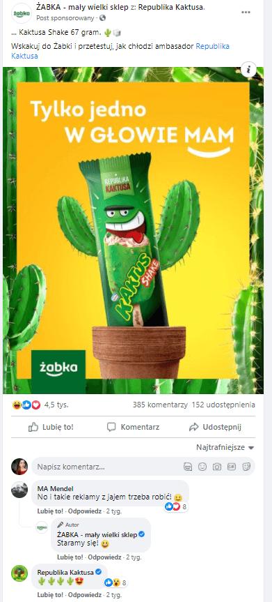 real time marketing - przykład drugi - Żabka